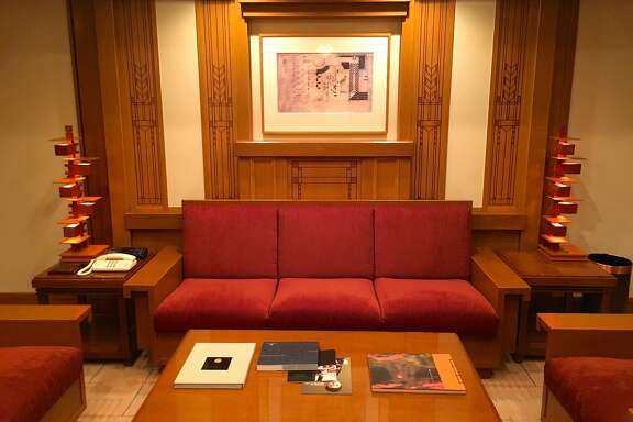 The Imperial Hotel�s spacious Frank Lloyd Wright Suite pays homage to the architect of the Tokyo hotel�s previous iteration.