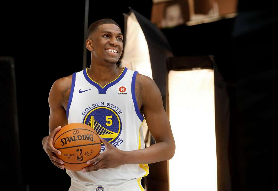Warriors' Kevon Looney during 2017 media day for the NBA's Golden State Warriors in Oakland, Ca., on Friday September 22,  2017. Photo: Michael Macor, The Chronicle