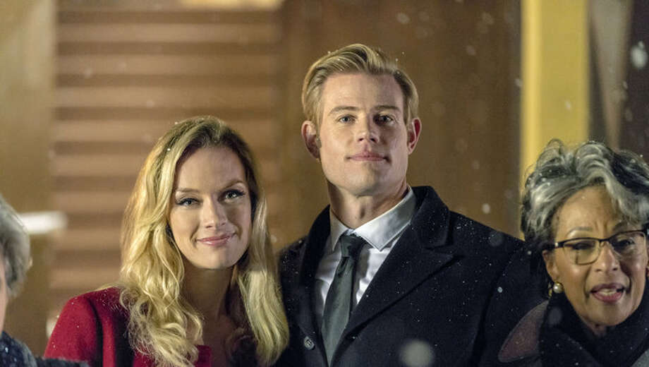 """Marry me at Christmas"" Saturday, Oct. 28 Starring: Rachel Skarsten and Trevor Donovan Wedding planner is swept off her feet by the bride's movie-star brother. Photo: Hallmark Channel"