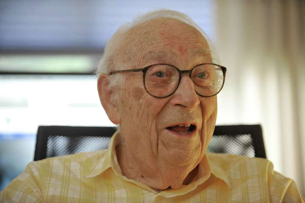 95-year-old, Heinrich Medicus talks about his life during an interview at his apartment on Thursday, Aug. 21, 2014, in Troy, N.Y. (Paul Buckowski / Times Union)