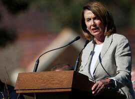 Nancy Pelosi, shown here in in October, delivered a barn-burner of a speech at SF prayer breakfast