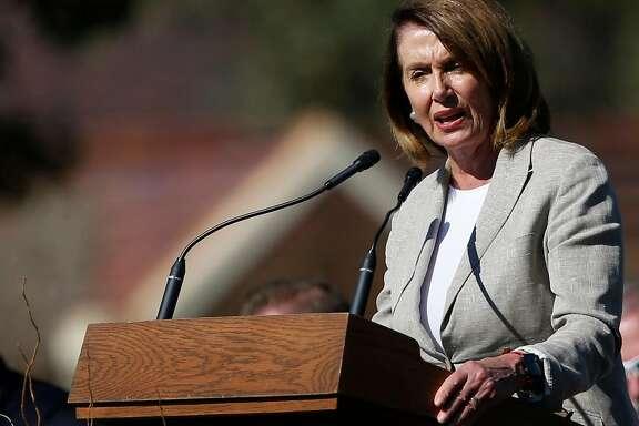 Nancy Pelosi, shown here in in October, delivered a barn-burner of a speech at SF prayer breakfast