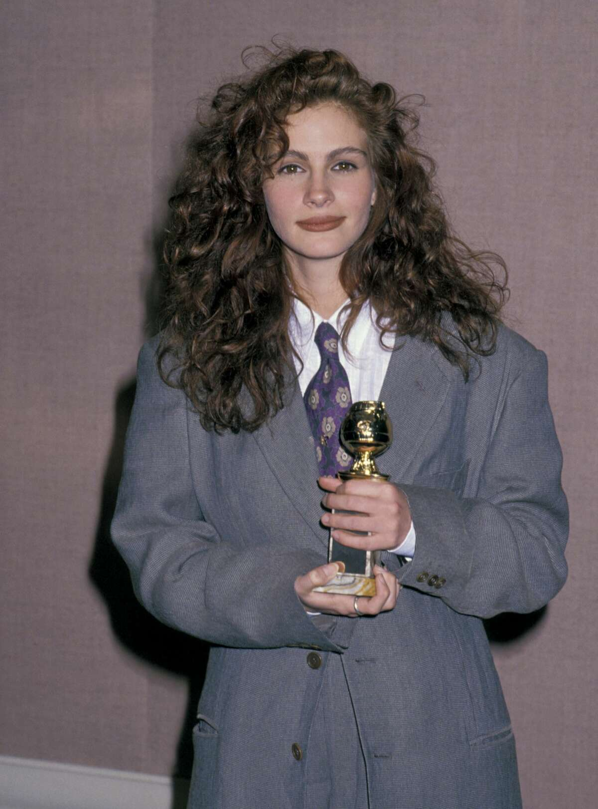 1990: Julia Roberts at the The Beverly Hilton Hotel in Beverly Hills, California.