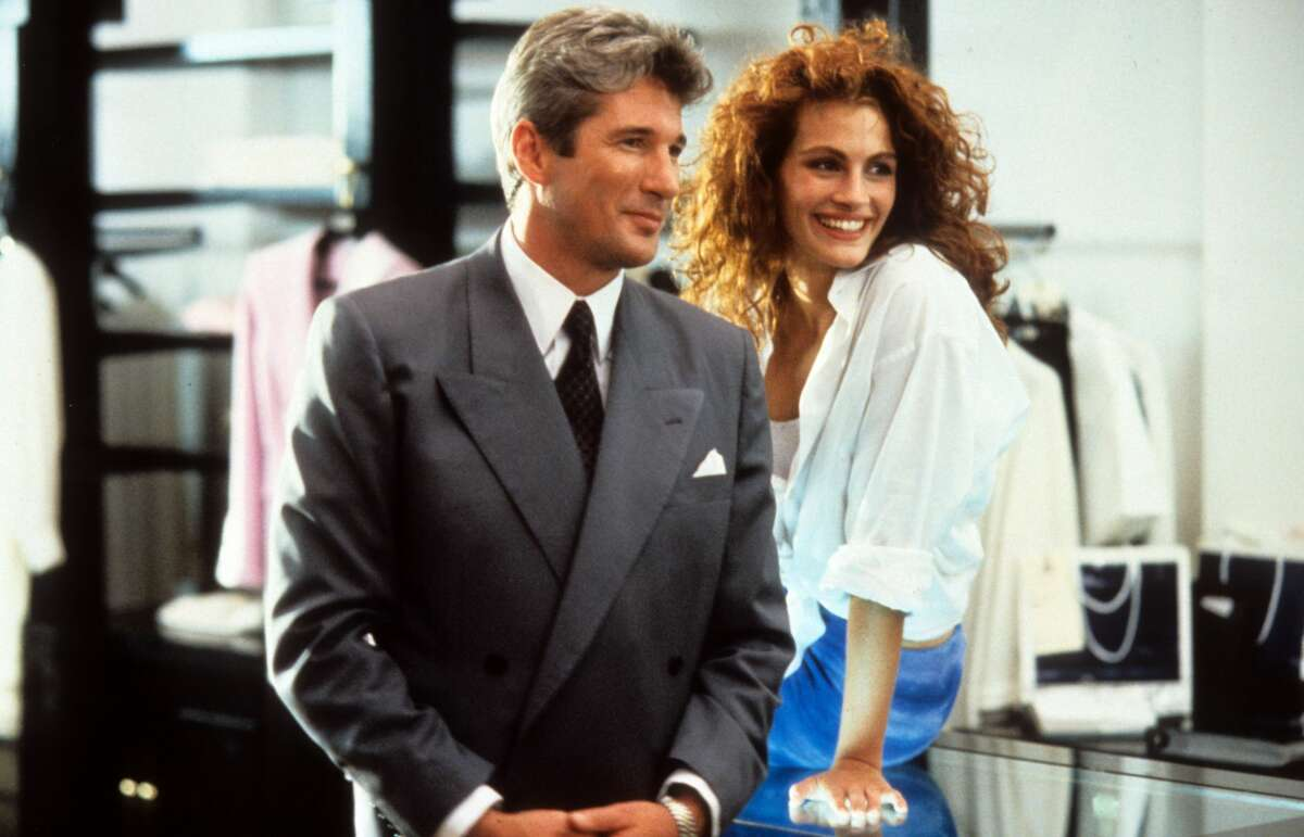 """1990: Richard Gere and Julia Roberts in a scene from the film """"Pretty Woman."""""""