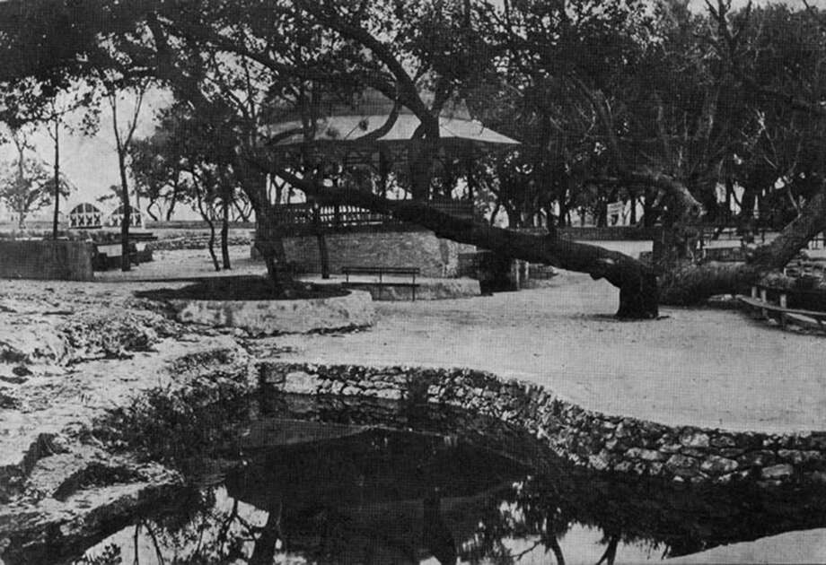 This image in a postcard dating from the turn of the last century depicts one of the water features for which San Pedro Springs Park is known. Photo: Courtesy /Friends Of San Pedro Springs Park