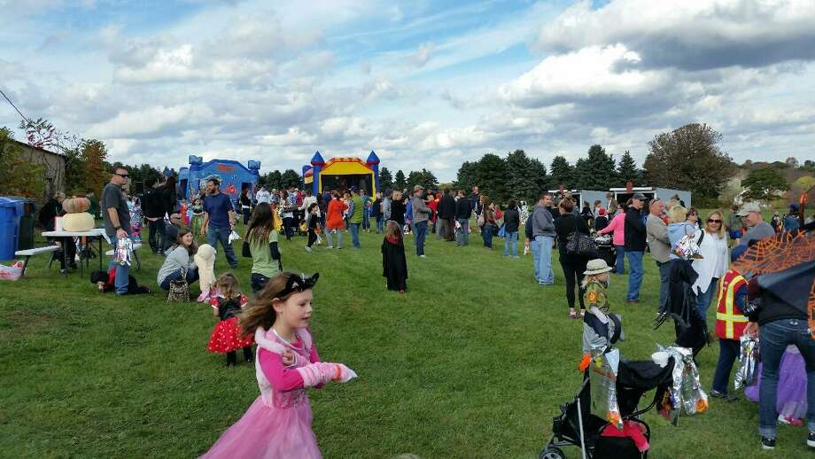 An estimated 350 attended the 12th annual Spooktacular at Johnnycake Mountain Farm in Burlington. Photo: NF Ambery /