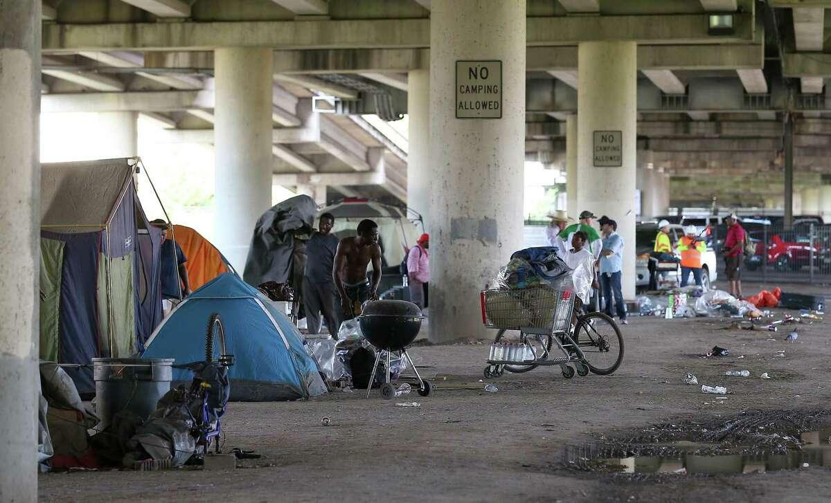 City officials evacuated a homeless encampment due to