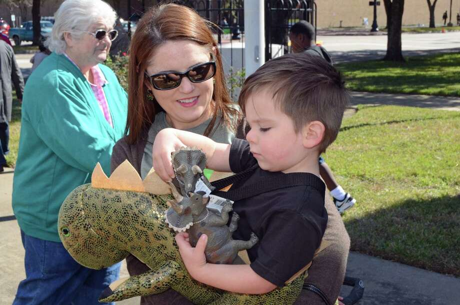 Families enjoy Dino Days at the Texas Energy Museum Saturday. Photo provided by Marilyn Tennison