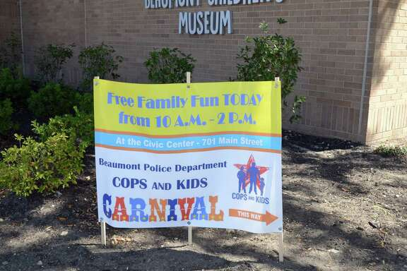 Families enjoy the Cops and Kids Festival downtown Saturday. Photo provided by Marilyn Tennison