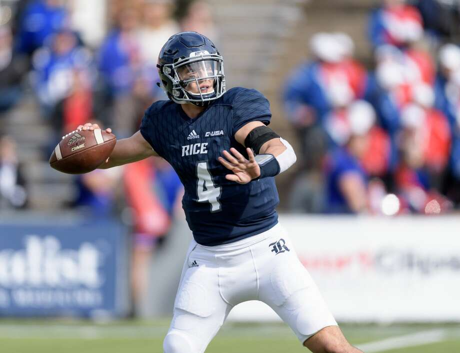 Rice quarterback Sam Glaesmann (4) had a career-best 255 yards of total offense in last week's loss to Louisiana Tech. Photo: Wilf Thorne/For The Chronicle