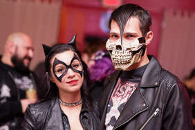 Attendees of the Rockula Horror Expo crept out of their convention grounds at the Wyndham San Antonio Riverwalk for a night of hard tunes, cocktails and dancing at The Korova Friday night, Oct. 27, 2017.