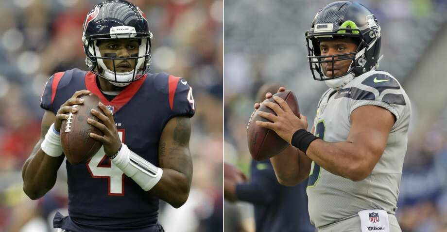 What Deshaun Watson is accomplishing with a combination of mobility, arm strength and uncommon maturity mirrors and exceeds statistically how Seattle Seahawks versatile quarterback Russell Wilson launched his impressive professional career six seasons ago. Photo: AP/Getty