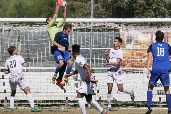 TAMIU's soccer teams play Wednesday in exhibition games with Houston-Victoria. Goalkeeper Carlos Herrera and defender Luis Diaz (2) were both named Preseason All-Heartland Conference Tuesday.
