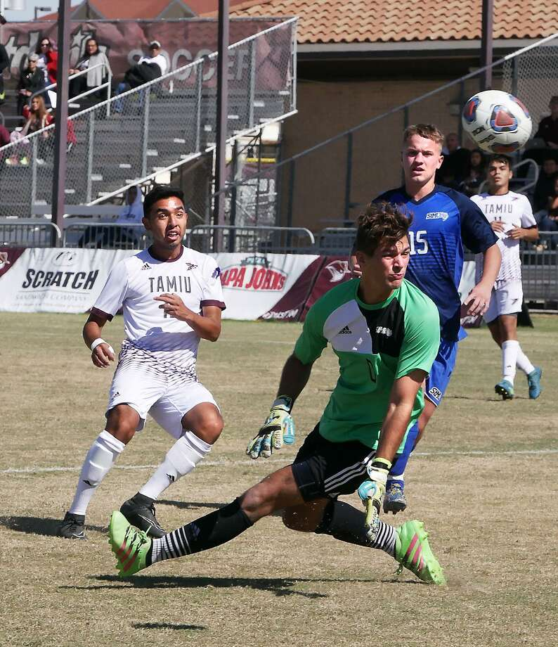 Rodrigo Zuniga scored the lone goal of the game for TAMIU as the Dustdevils were eliminated 2-1 at No. 3 Midwestern State on Friday night in the Heartland Conference Semifinals. Photo: Cuate Santos /Laredo Morning Times File / Laredo Morning Times