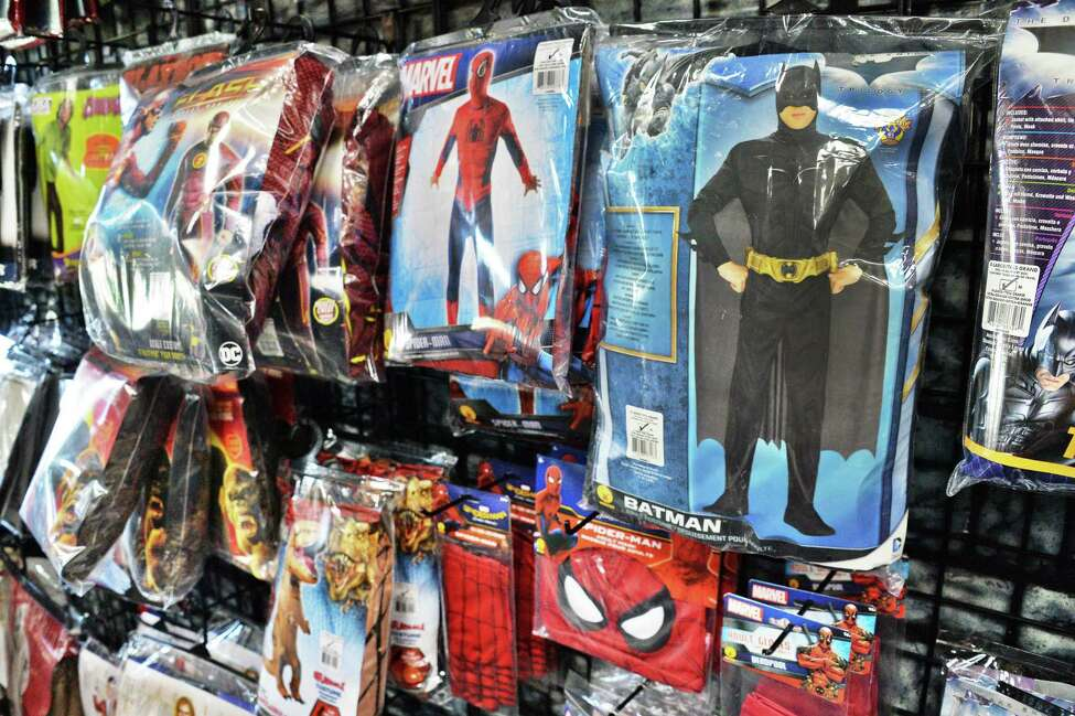 Halloween costumes at The Costumer Tuesday Oct. 10, 2017 in Colonie, NY. (John Carl D'Annibale / Times Union)