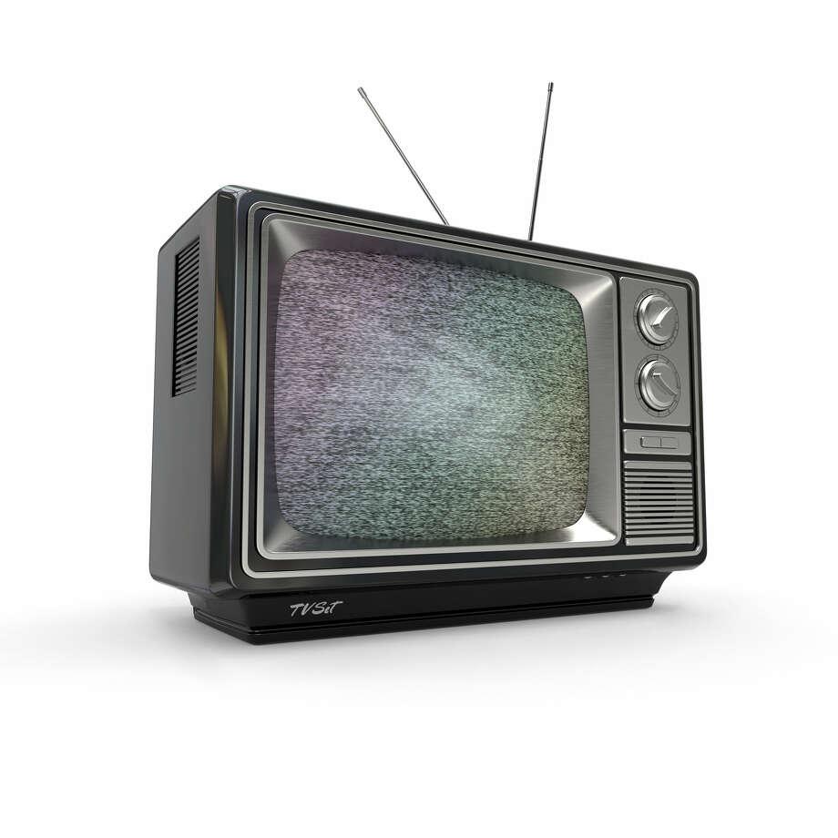 Vintage tv with noise screen on white background. 3d / Maksym Yemelyanov - Fotolia