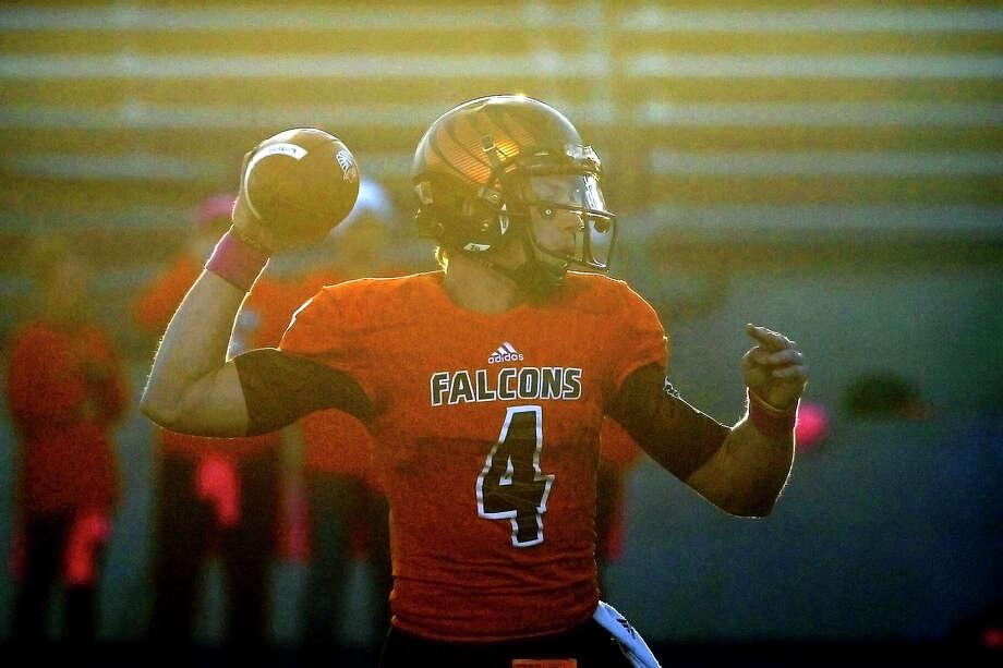 UTPB quarterback Kameron Mathis (4) throws against Midwestern State on Oct. 28, 2017, at Grande Communications Stadium. James Durbin/Reporter-Telegram Photo: James Durbin