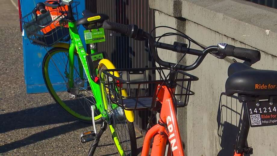 Some of Seattle's many bike-share bicycles have recently had their brakes cut, SDOT warned in a tweet. Users were warned to check the brakes visually and then test them before using any of the bikes. Photo: KOMO News