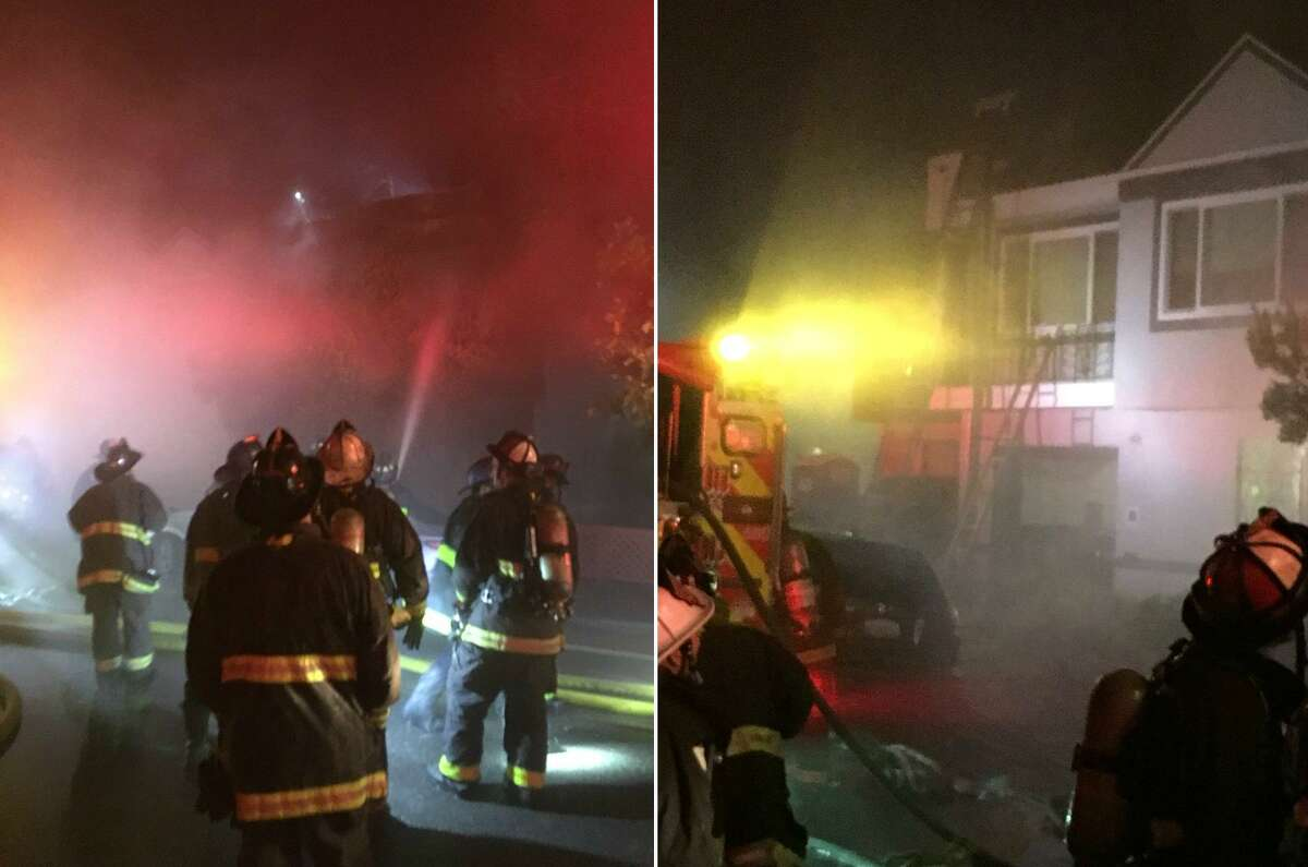 One person died and another was injured in a house fire in San Francisco's Miraloma Park neighborhood on Sunday morning, officials said.
