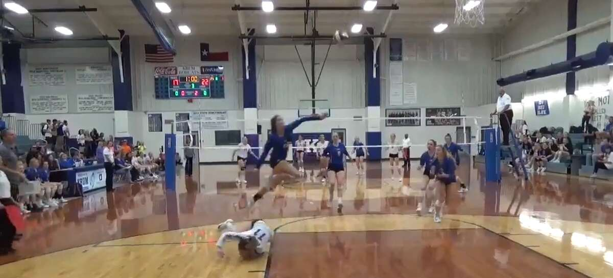 Decatur High School volleyball player Autumn Finney pulled off an unbelievable return that is being hailed as