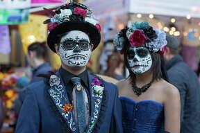 La Villita was packed this weekend for the city's annualDía de Los Muertos celebration.