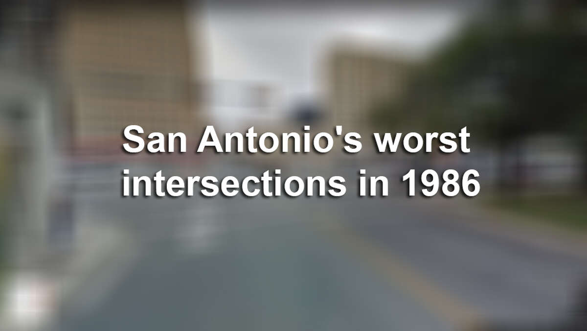 Click through the slides to see where San Antonio had the most wrecks in 1986.