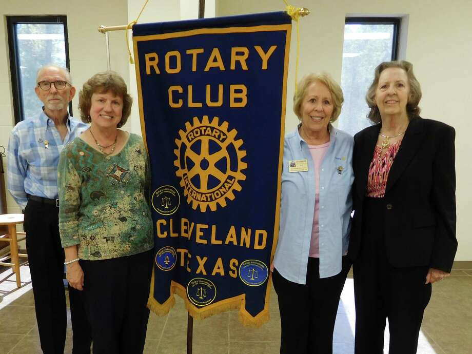 Cleveland Rotary Club welcomed polio survivor Lady Elizabeth Dalton recently. Pictured left to right are Rotarians Tommie Daniel and Claire Garrett; Rotary Speaker host and proud sister Ernestine Belt. Photo: Submitted
