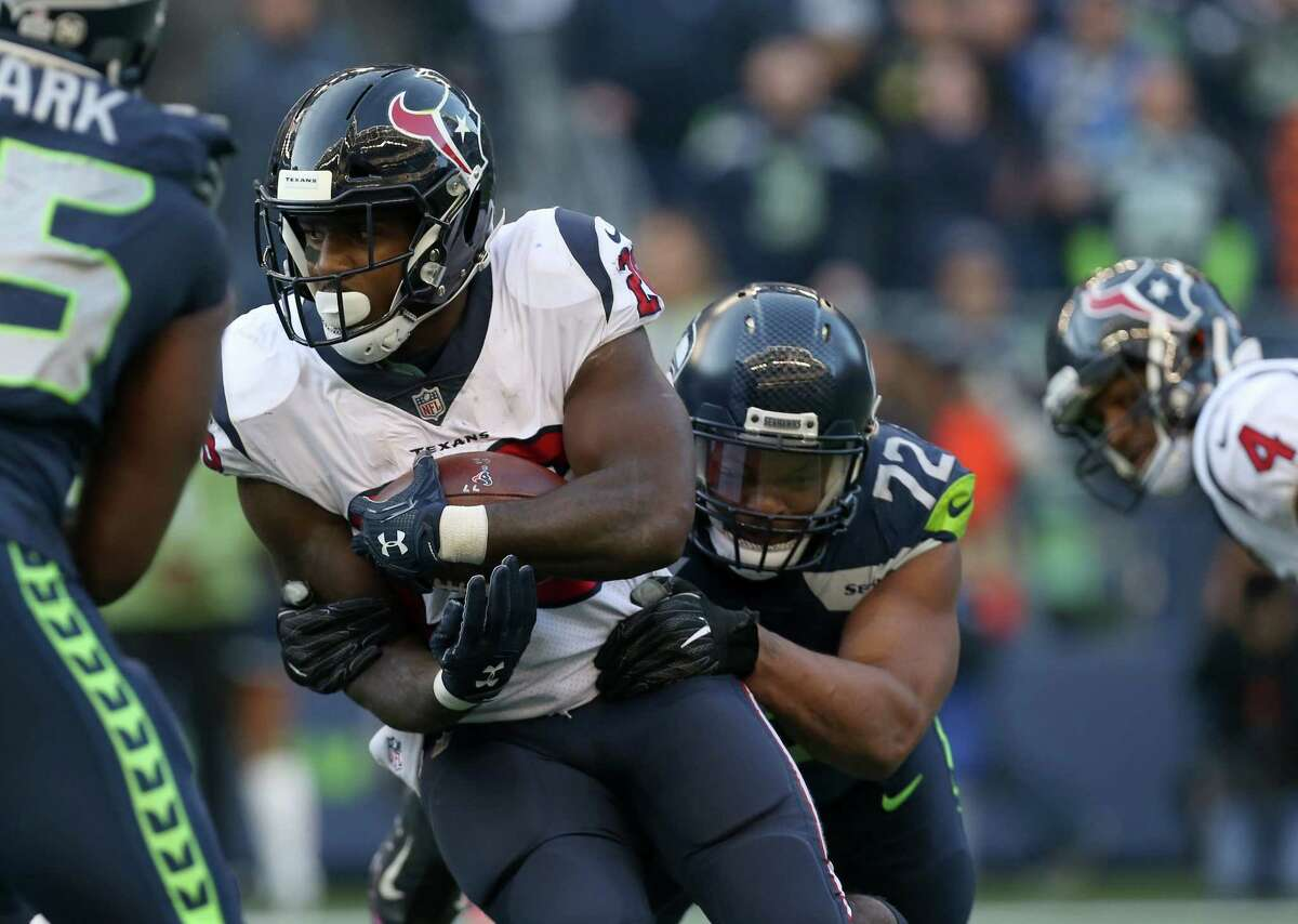 Running back Lamar Miller and D'Onta Foreman combined for 190 carries, 727 yards and two touchdowns. They've also combined to average only 3.8 yards a carry. Deshaun Watson contributed 269 yards, which boosted their rushing average high enough to rank fourth in the league. The run blocking and the running have to improve or this offense is in big trouble. Grade: C
