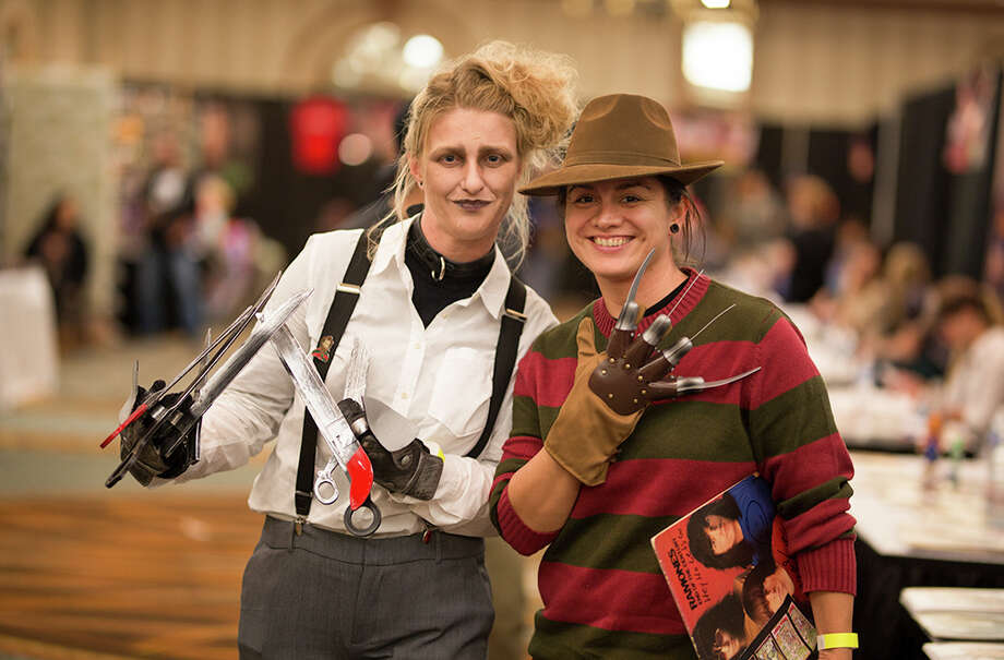 Fans went look for spooky fun during Rockula Horror Expo's debut con this weekend in San Antonio. Photo: B. Kay Richter For MySA