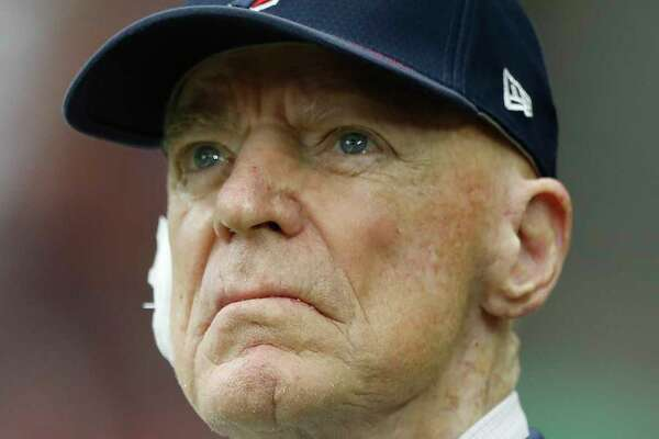 Houston Texans owner Bob McNair watches the game from the field during the first quarter of an NFL football game at NRG Stadium, Sunday, Oct. 1, 2017, in Houston.   ( Karen Warren / Houston Chronicle )
