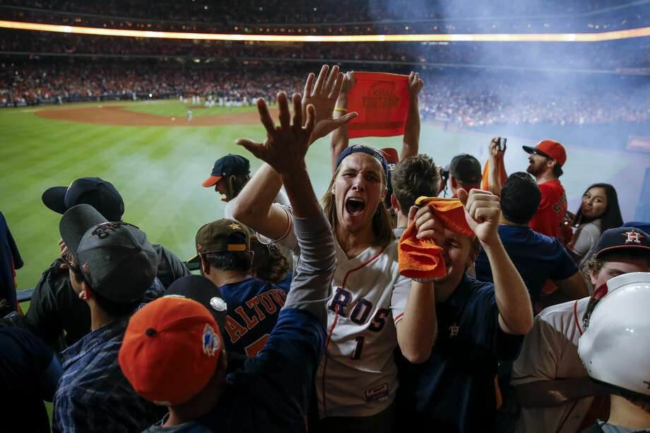 Astros fans using AT&T posted the equivalent of 9 million selfies during the World Series Games this past weekend at Minute Maid Park.Keep going for World Series Game 5 celebration photos. Photo: Michael Ciaglo/Houston Chronicle