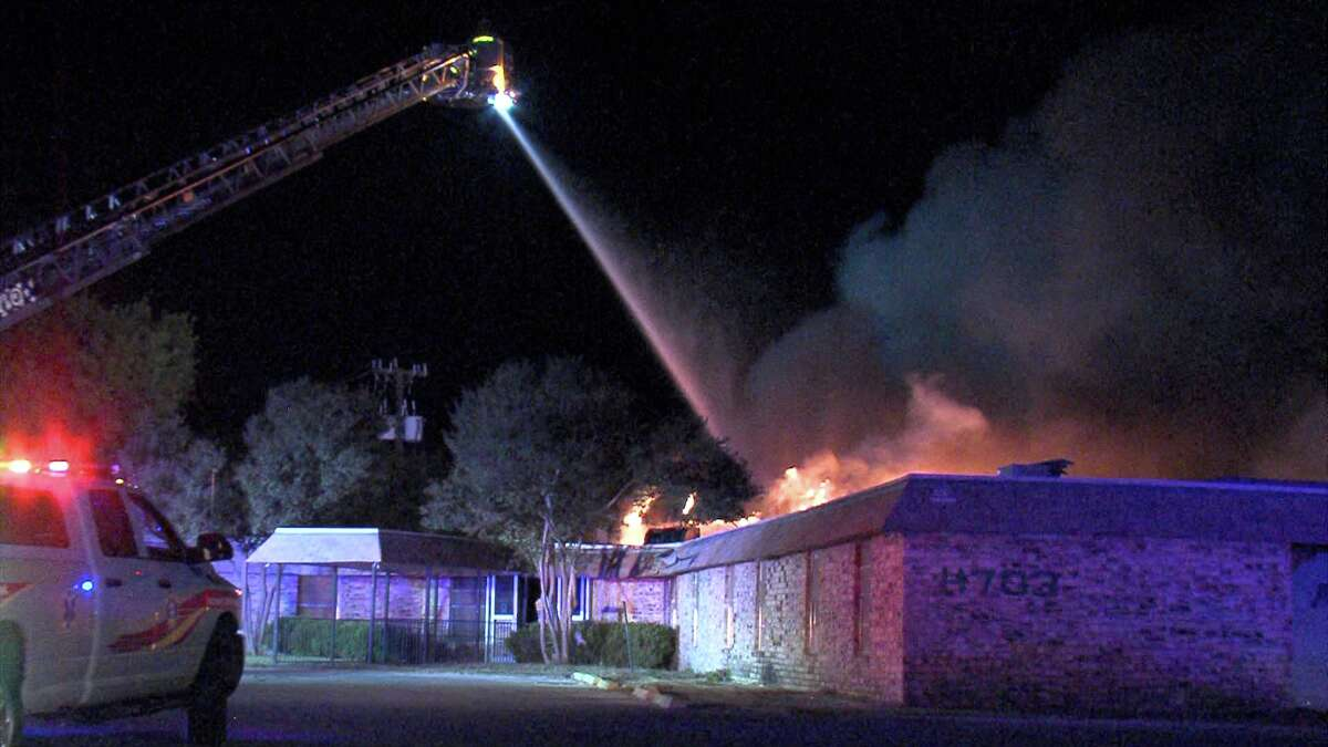 The fire was first reported around 3:15 a.m. at the former nursing home in the 4700 block of Goldfield.