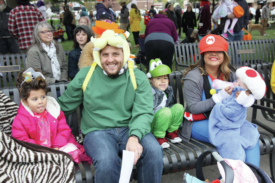 Despite Saturday's chilly temperatures, the annual Halloween Costume Contest was conducted at City Park by the Edwardsville Parks and Recreation Department and the Edwardsville Lions Club. A good crowd turned out for both the costume contest and the Main Street trick-or-treating event, which allowed youngsters to get a jump on Halloween fun. Photo: Marci Winters-McLaughlin