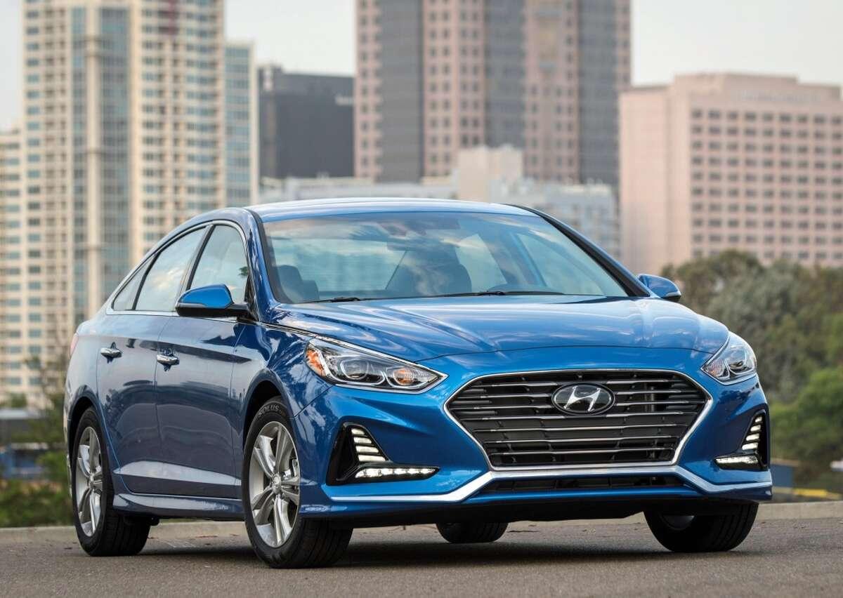 10: Hyundai cars(24 reported stolen)