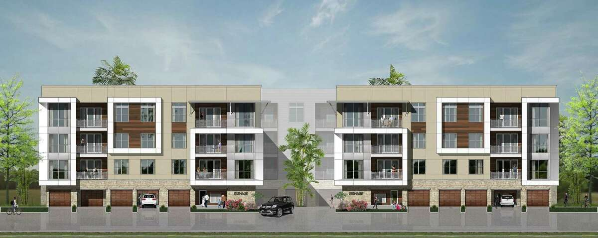 Hines, a Houston-based real estate firm that is the dominant landowner at the Rim, plans to build a four-story luxury apartment complex at the shopping center.