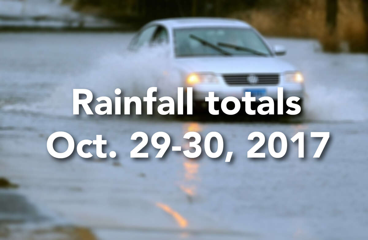 Click through to see rainfall totals from the late October 2017 storm that walloped southwestern Connecticut >>