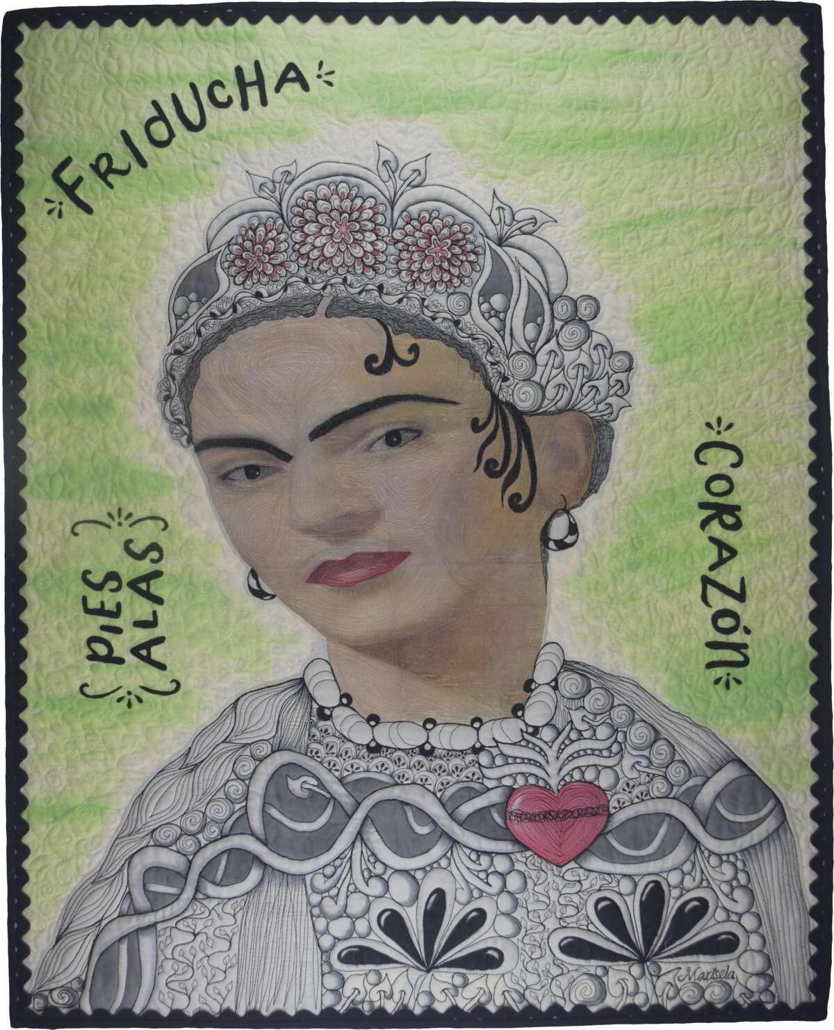 """Frida Kahlo,"" by Marisela Rumberg, honoring Mexican artist Frida Kahlo."