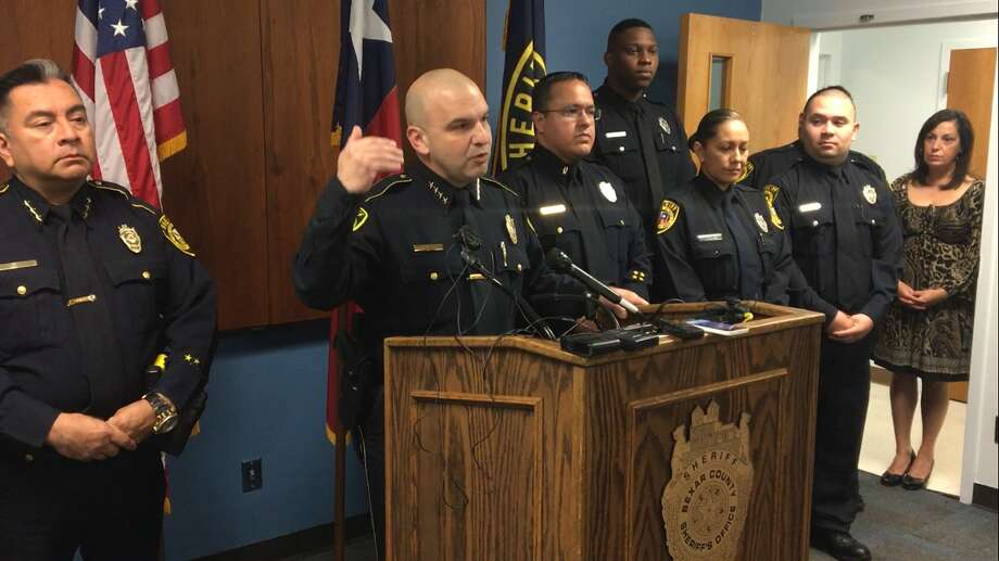Sheriff Javier Salazar announced the creation of a new program aimed at preventing inmate suicides at the Bexar County Jail. Photo: Caleb Downs