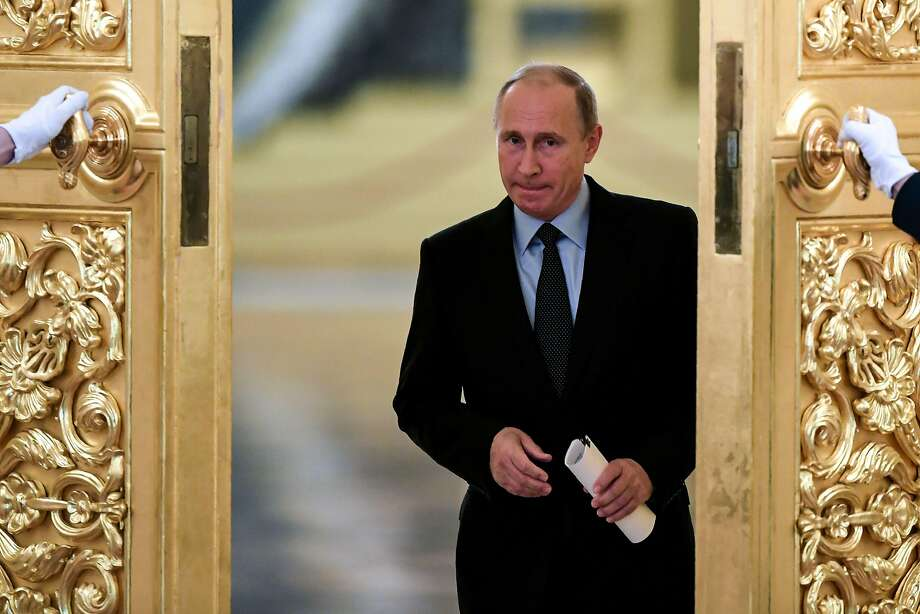 """President Vladimir Putin sought to play down the incident, calling the attacker """"just a sick man."""" Photo: KIRILL KUDRYAVTSEV, AFP/Getty Images"""