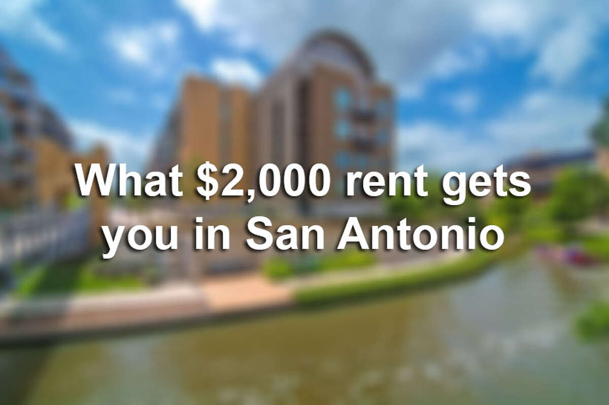 Not everyone has $2,000 per month to spend on housing, but those who do will find a wealth of luxurious options around San Antonio.