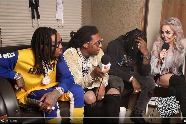 San Antonio radio host Data Cortez speaks with Migos before the group abruptly ended the interview.