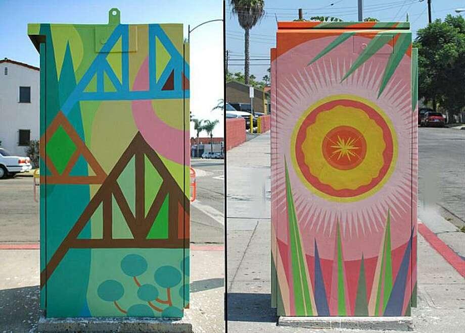 Examples of traffic box art Danbury would like to install. Photo: / City Of Danbury