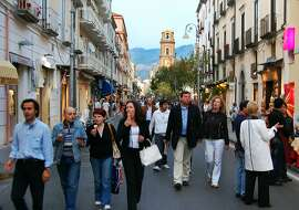 All of Sorrento turns out to enjoy the evening passeggiata, Italy's ritual promenade.