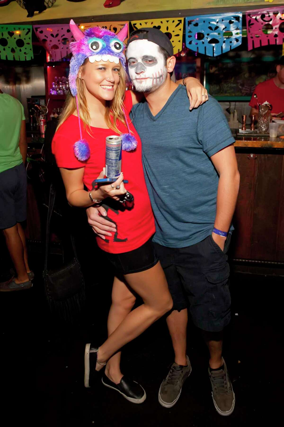 El Big Bad in downtown Houston will celebrate Halloween and Dia de los Muertos in a series of parties from Oct. 30 to Nov. 4. Shown: Scenes from past holiday parties at El Big Bad.