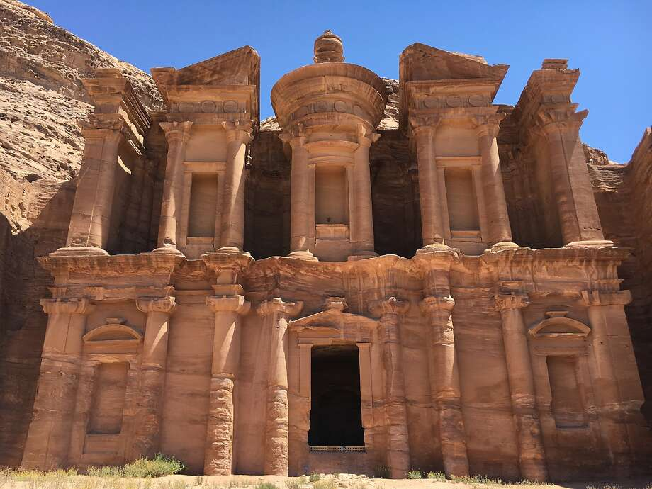 "Ad Deir, ""the Monastery,"" is one of the largest monuments in the ancient city of Petra and is believed to have been cut into the rock during the first century A.D. Photo: Andrew McCarthy, Special To The Chronicle"