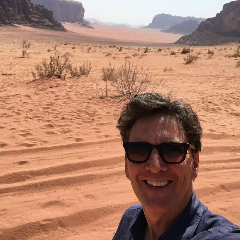 Actor-director-writer Andrew McCarthy stops for a selfie in Wadi Rum Protected Area, a desert wilderness in southern Jordan. Photo: Andrew McCarthy, Special To The Chronicle