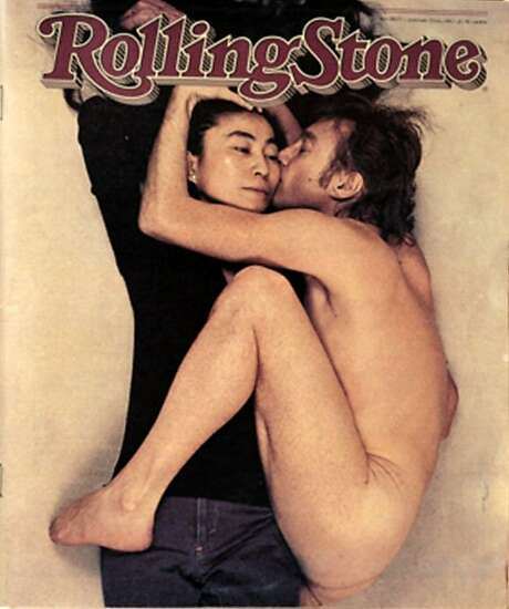 **RETRANSMISSION FOR IMPROVED QUALITY AND INCREASED FILE SIZE**This photo supplied by the Magazine Publishers Association and American Society of Magazine Editors shows the Rolling Stone magazine cover from Jan. 22, 1981, depicting John Lennon and Yoko Ono, which was voted the number one cover from the last 40 years, as decided by judges in a contest by the American Society of Magazine Editors, the group announced Monday, Oct. 17, 2005. The photo was taken by photographer Annie Liebovitz in December 1980 on the last day of Lennon's life. (AP Photo/Magazine Publishers Assn and American Society of Magazine Editors) Photo: AP