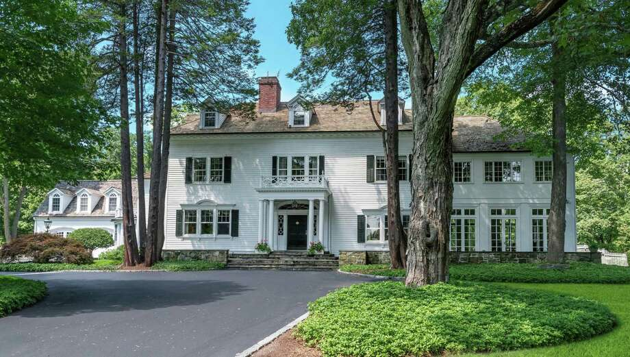 The Georgian colonial house at 481 Canoe Hill Road has a wealth of history within its walls and on its 5.45-acre property. Photo: Contributed Photo