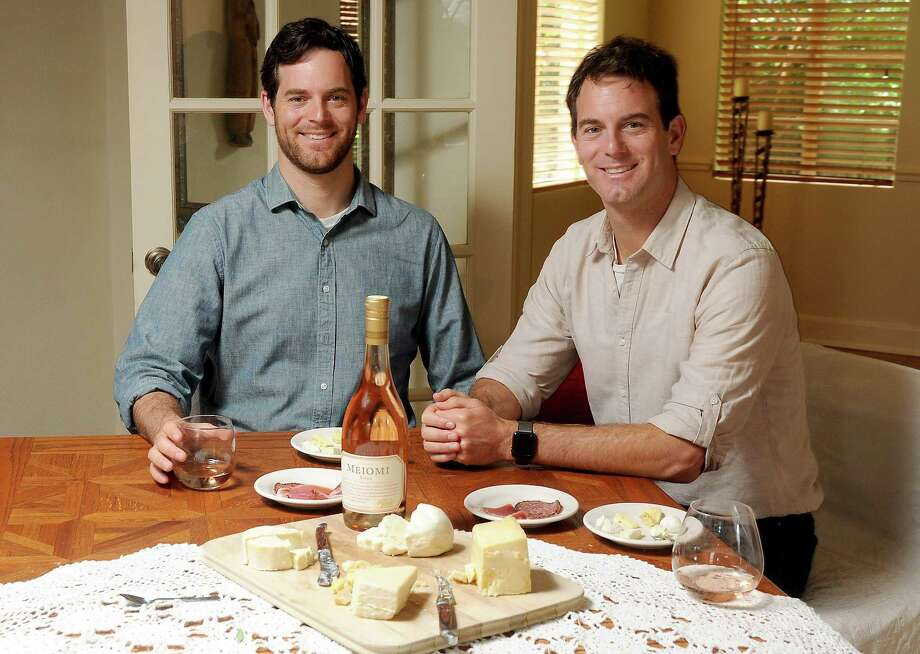 Michael, left, and Charlie Kalish liken rosé and mascarpone to strawberries and cream. Photo: Dave Rossman, Freelance / Dave Rossman