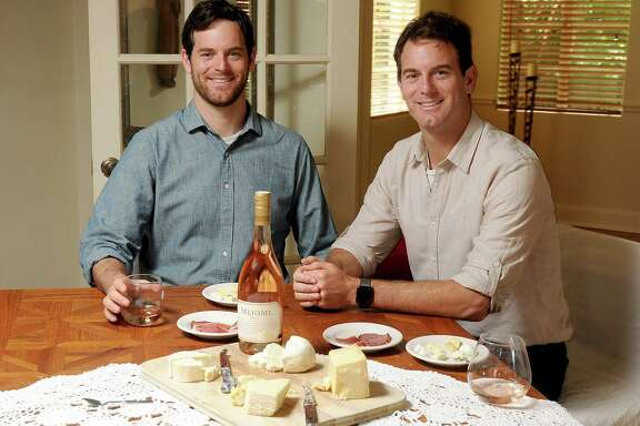 Michael, left, and Charlie Kalish liken rosé and mascarpone to strawberries and cream.